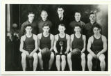 1938-39 Roses boy's basketball champ team portrait, Wildrose, N.D.