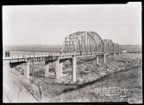 Lewis & Clark bridge and the breaking up of the Missouri River, Williston, N.D.