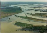 Aerial view of the Missouri River flooding, N.D.