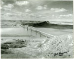 View overlooking Four Bears Bridge, near New Town, N.D.
