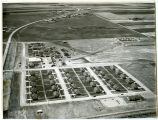 Aerial view of an Amerada camp, Tioga, N.D.