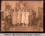 Congregation inside church, Northwest Williston, N.D.