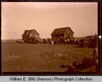 Large group gathering, Northwest Williston, N.D.