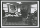 Byron Dorgan being interviewed in State Tax Commissioner's office, Bismarck, N.D.