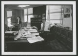 Byron Dorgan in State Tax Commissioner's office, Bismarck, N.D.