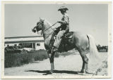 Young man on horse, Wells County Fair, Fessenden, N.D.