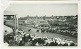 Horse racing, Wells County Fair, Fessenden, N.D.