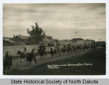 Sioux Indian parade, Standing Rock Agency