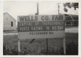 Wells County Fair sign, Fessenden, N.D.