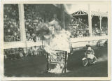Motorcycle driving through fire, Wells County Fair, Fessenden, N.D.