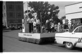 Bendewald Barber Shop float, Ashley Diamond Jubilee parade, Ashley, N.D.