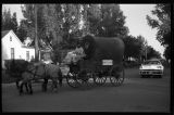 Andy's Bar covered wagon, Ashley Diamond Jubilee parade, Ashley, N.D.