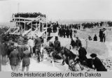 Old North Dakota Capital building cornerstone ceremony, Bismarck, Dakota Territory