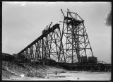 Highline bridge under construction, Valley City, N.D.