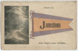 Come to Jamestown and forget your troubles postcard