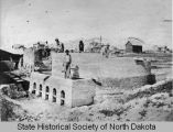 Brick factory under construction, Williston, N.D.