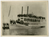 Steamer Minnie H at boat landing, likely in Devils Lake, N.D.