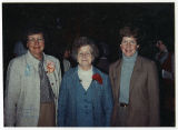 Democratic Women's Day at Governor's Residence, Bea Peterson, Grace Link, and Barbara Olson, Bismarck,
