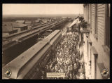 Four Henry Villard Northern Pacific special trains enroute to Last Spike Ceremony, Bismarck, N.D.