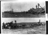Lasher-Hamilton steam threshing rig on Gott-Diede farm, McClusky, N.D.