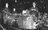 George Easton and others eating lunch in underground coal mine