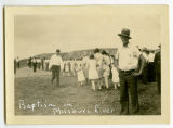 Baptism in Missouri River at Sanish, N.D.