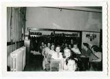 Sanish grade school classroom scene, Sanish, N.D.