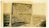 Verendrye National Monument sign overlooking Sanish, N.D.