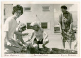Beta Sigma Phi Sorority planting flowers, New Town, N.D.