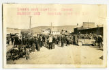 Lunch and auction crowd, market day, Sanish, N.D.