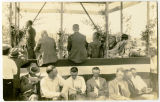 Speakers' box at Verendrye Bridge dedication, Sanish, N.D.