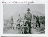 Frank Wilbur and his goats, Sanish, N.D.