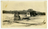 Construction of Verendrye Bridge over Missouri River at Sanish, N.D.