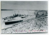 Construction of a freight boat at either Williston or Mondak, Mont.