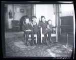 Unidentified children in living room, Walsh County, N.D.
