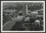 Aerial view of North Dakota State Capitol and Capitol Grounds, Bismarck, N.D.