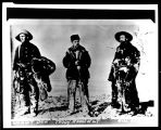 Wilmont Dow, Theodore Roosevelt, and Bill Sewall in cowboy clothes