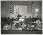 General Alfred M. Gruenther giving presentation about the North Dakota Crusade for Freedom to the North