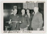 General Alfred M. Gruenther (with pipe given to him by Frank Zahn), General Edwards, Floyd Boutrous and