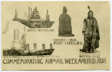 Postcard commemorating airmail week