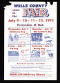 1975 Wells County Fair Poster