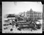 Troops from Fort Yates in Constitutional Convention Parade, Bismarck, Dakota Territory