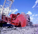 Strip mining machinery at work in North Dakota