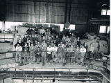 Construction workers at William J. Neal power plant near Velva, N.D.