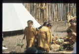 Family at Corps of Discovery Pageant, Knife River Indian Villages Historic Site, N.D.
