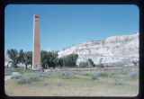 Chimney of Marquis de Mores' packing plant, Medora, N.D.