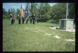 Mohall American Legion Colour and Rifle Salute, Memorial Day Service, McKinney, N.D.