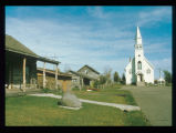 Fargo's first house, church, log cabins and sod house, Bonanzaville, West Fargo N.D.