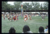 Boys traditional dance United Tribes International Powwow, Bismarck, N.D.