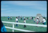 Crowd gathering at Arikara Indian Scout Cemetery, White Shield, N.D.